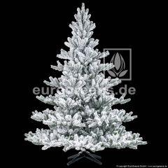 künstlicher Spritzguss Weihnachtsbaum Nordmanntanne Alnwick ca. 180cm weiß beflockt