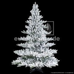 künstlicher Spritzguss Weihnachtsbaum Nordmanntanne Alnwick ca. 210cm weiß beflockt